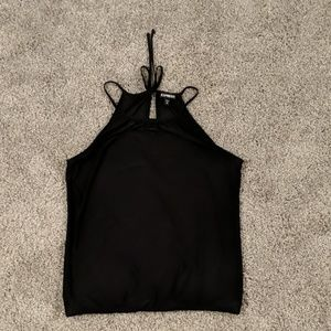 Black tank with keyhole back